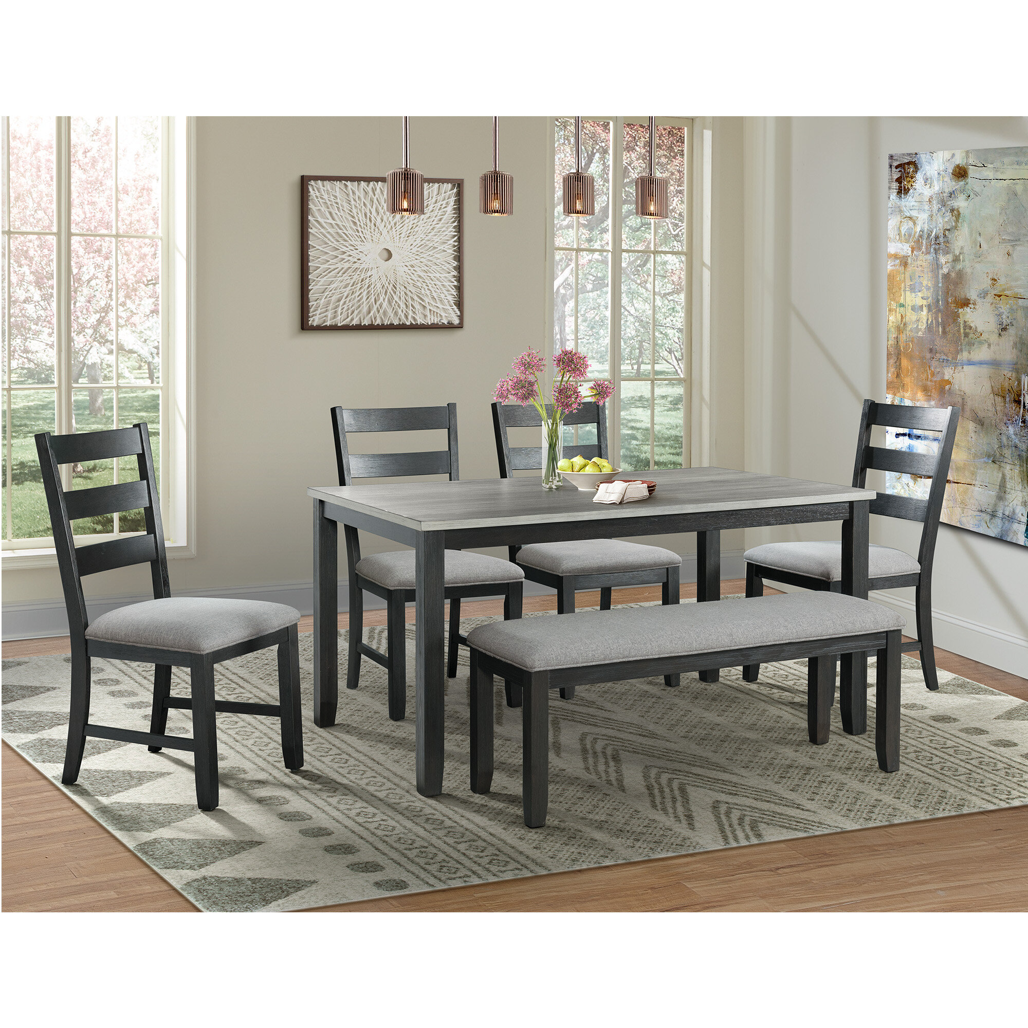 Alcott Hill Mavis Solid Wood Dining Set Reviews