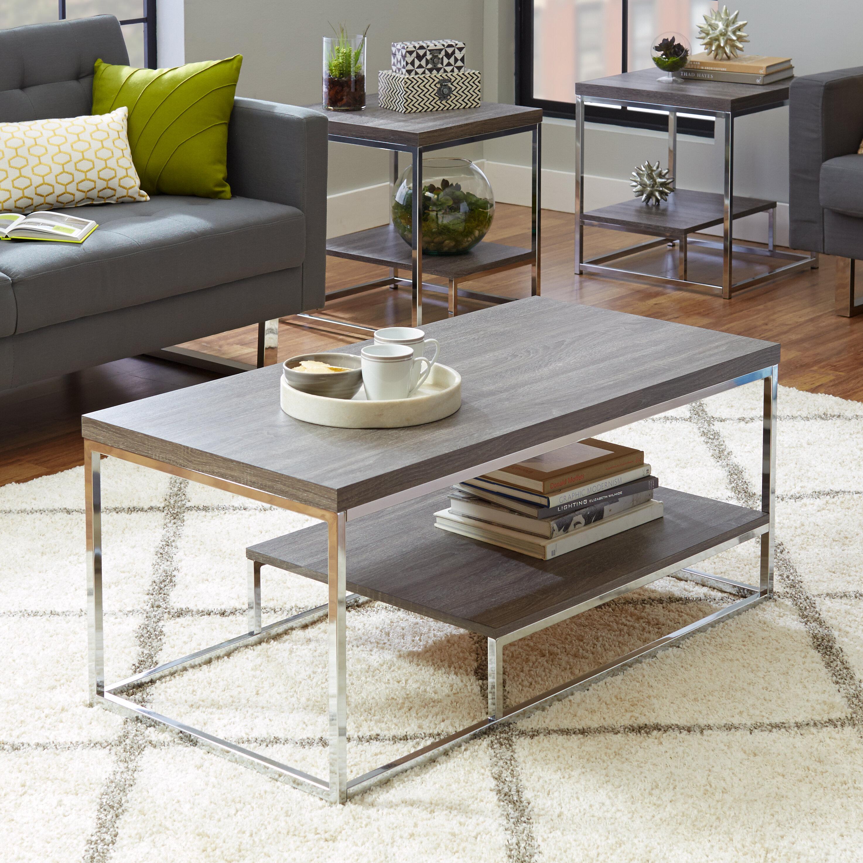 Mercury Row® Philippos 3 Piece Coffee Table Set & Reviews | Wayfair