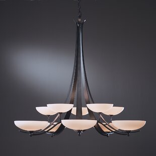 Hubbardton Forge Aegis 10-Light Shaded Chandelier