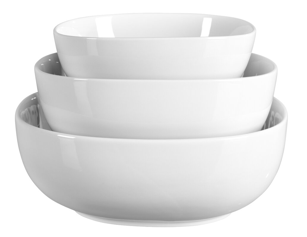 Lyman 3 Piece Porcelain Serving Bowl Set