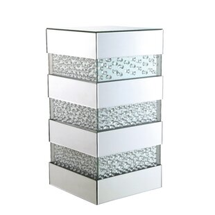 Melina Crystal End Table by Orren Ellis
