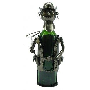 Cowboy 1 Bottle Tabletop Wine Rack by Win..