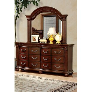 Find the perfect Underwood 12 Drawer Double Dresser with Mirror by Fleur De Lis Living