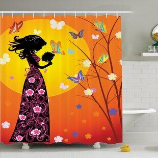 Teen Room Decor Floral Shower Curtain Set