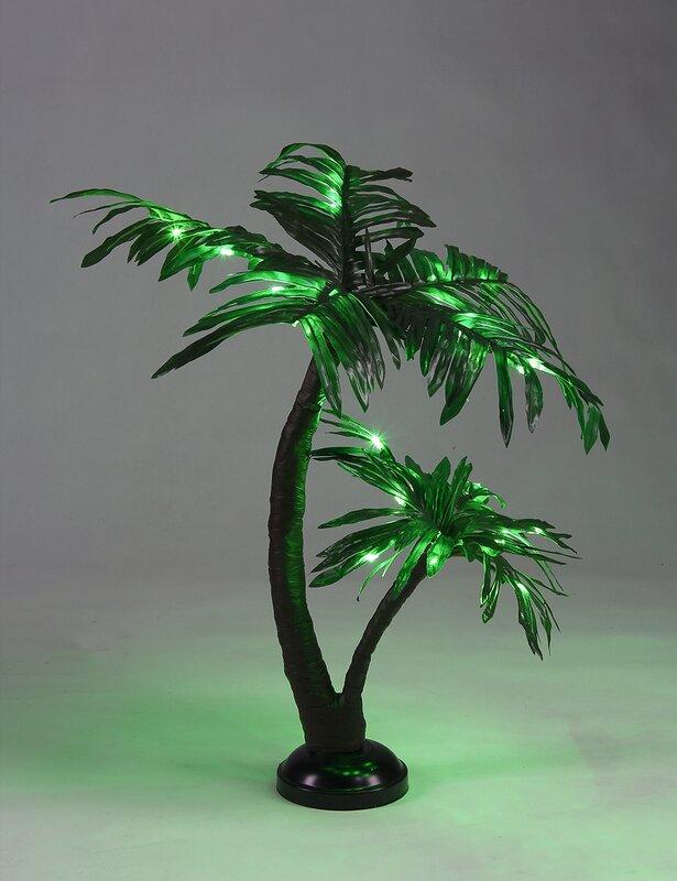 LED 25 Light Twins Palm Tree