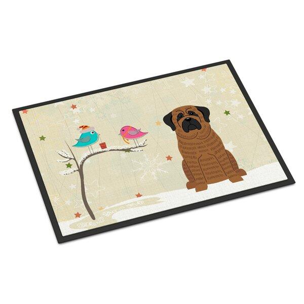Caroline S Treasures Christmas Presents Between Friends Mastiff Outdoor Door Mat Wayfair