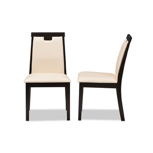 Peggy Upholstered Dining Chair (Set of 2) by Wrought Studio