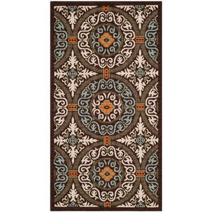 Centeno Chocolate/Aqua/Biege Indoor/Outdoor Area Rug