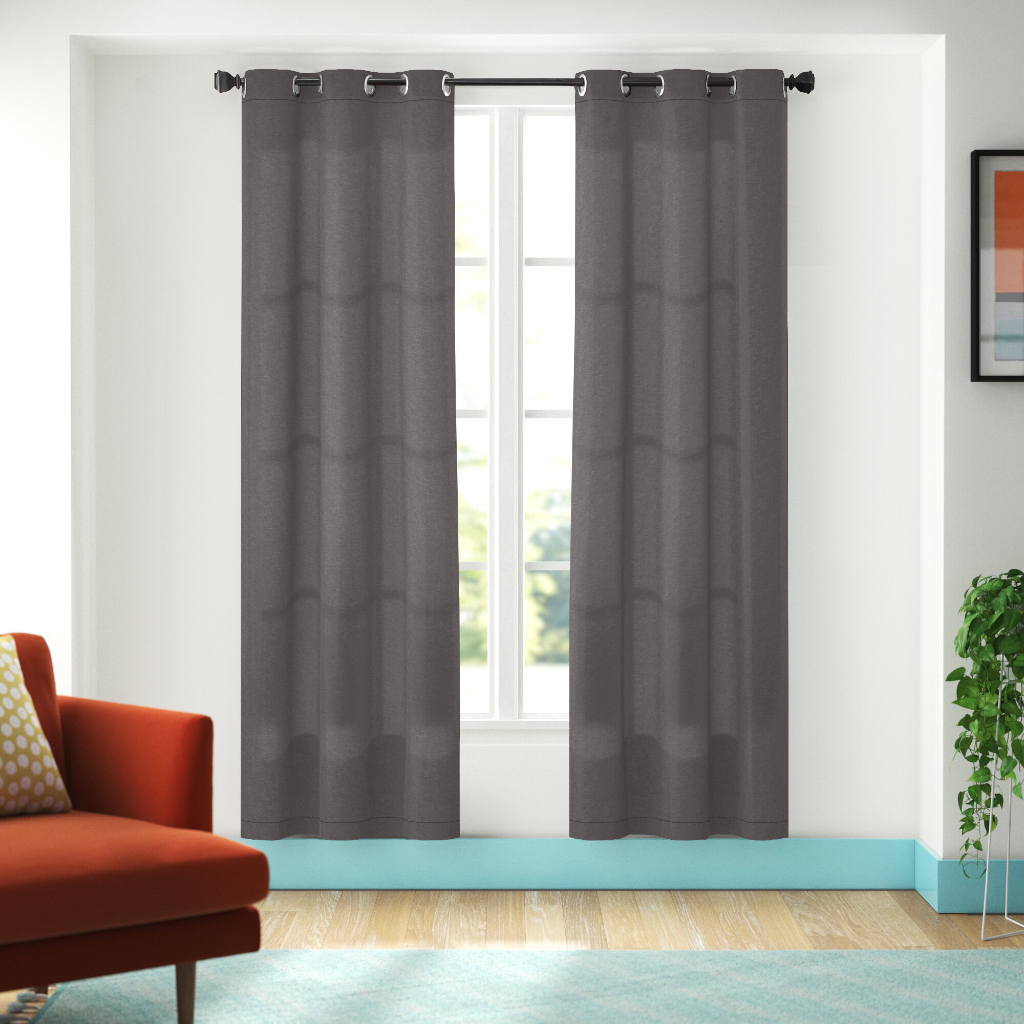 Gray And Silver Curtains Drapes You Ll Love In 2021 Wayfair