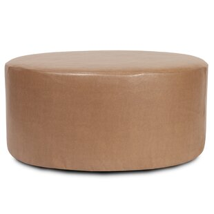 Round Polyester Ottoman Slipcover