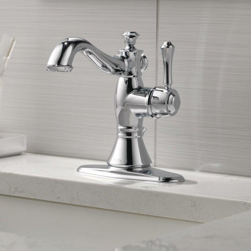 Delta Cassidy™ Single Handle Centerset Bathroom Faucet & Reviews ...