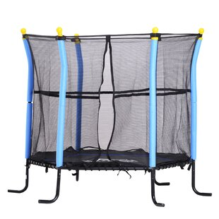 5' Round Trampoline With Safety Enclosure By Freeport Park