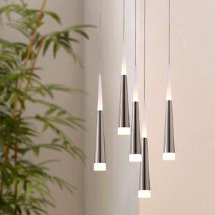 Orren Ellis Wadley 5-Light LED Cluster Pendant