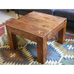 Isaiah Cube Coffee Table Millwood Pines