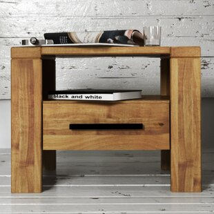 Cubic 1 Drawer Bedside Table By Castleton Home