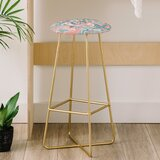 Wagner Campelo Marble Waves Desert 31 Bar Stool by East Urban Home