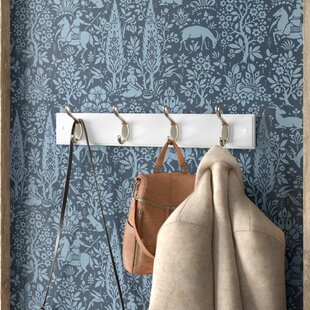 Springtown Wall Mounted Coat Rack With 4 Hooks By Brambly Cottage