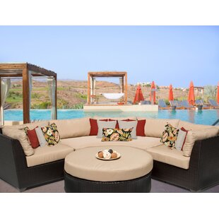 Medley 4 Piece Sectional Seating Group with Cushions by Rosecliff Heights