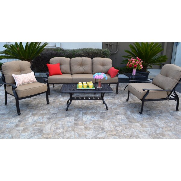 Darby Home Co Kristy 5 Piece Sunbrella Sofa Seating Group With Cushions Wayfair