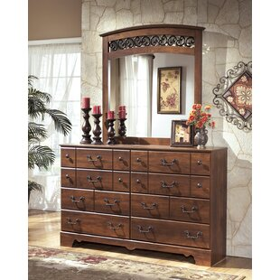 Elle 8 Drawer Double Dresser with Mirror