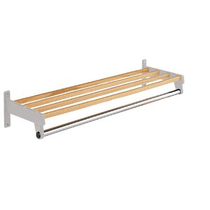 Hanger Style Coat Rack with Shelf Bars