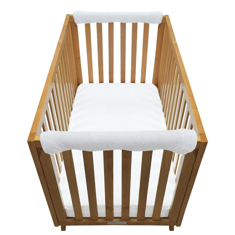 Sage Green /& White 24 Count Go Mama Go Pure Safety Vertical Crib Liners 24 Piece in Reversible Cotton
