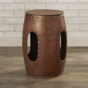 Curlew Industrial Barrel Stool End Table