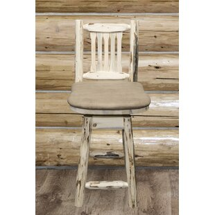 Abordale 24 Square Seat Bar Stool Loon Peak