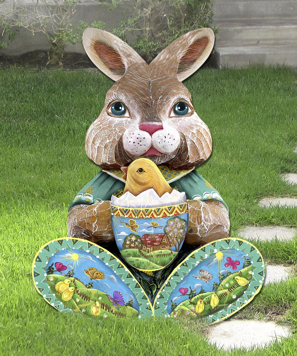 The Holiday Aisle Easter Bunny Decor Figurine Reviews Wayfair