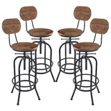 Poitras Adjustable Height Swivel Bar Stool (Set of 4) by Gracie Oaks