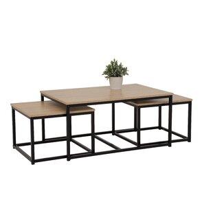Guero 3 Piece Coffee Table Set By Ebern Designs