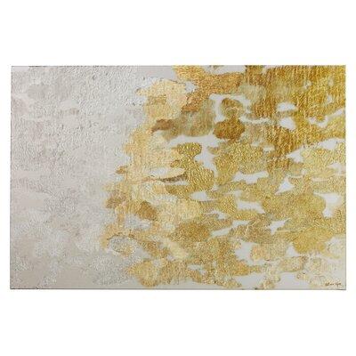 Willa Arlo Interiors Gold vs Platinum Abstract Art Wrapped