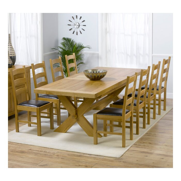 Rochelle Extendable Dining Set With 8 Chairs