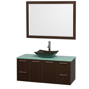 Amare 48 Wall-Mounted Single Bathroom Vanity Set with Mirror By Wyndham Collection