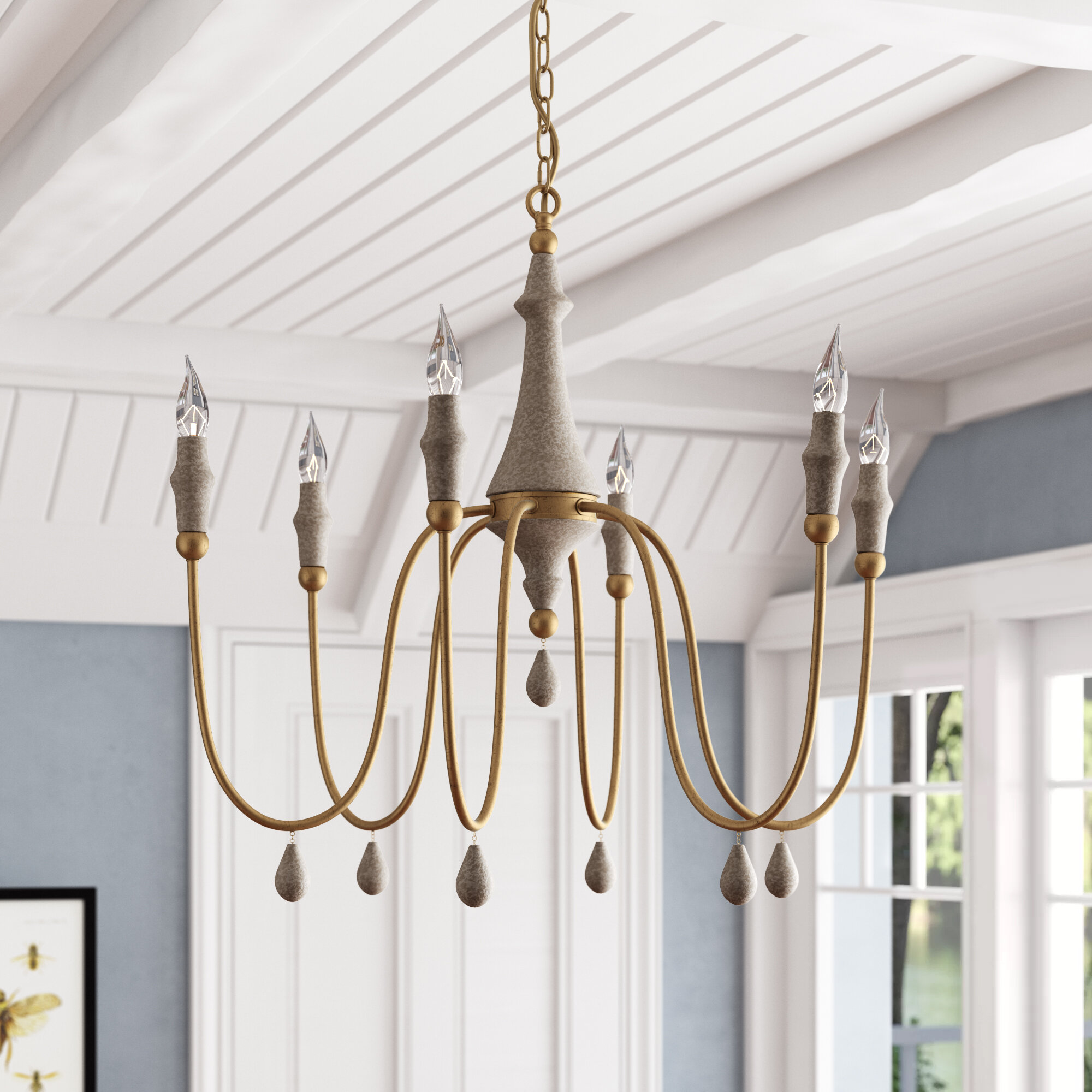Gabby Clay 6 Light Candle Style Classic Traditional Chandelier Perigold