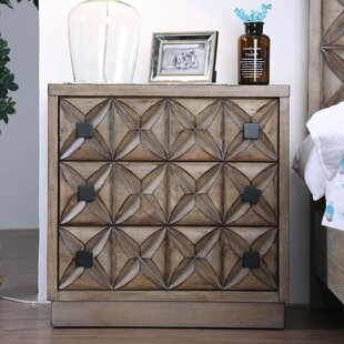 Blessing 3 Drawer Nightstand by Foundry Select