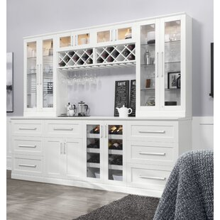 NewAge Products Home Bar 8 Piece Shaker Style with Wine Storage