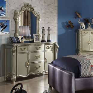 Astoria Grand Westhoughton 5 Drawer Combo Dresser with Mirror