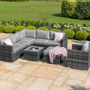 7 Seater Rattan Corner Sofa Set By Sol 72 Outdoor