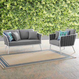 Rossville 2 Piece Sofa Seating Group with Cushions