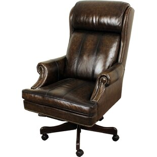 Genuine Leather Office Chairs You\'ll Love | Wayfair