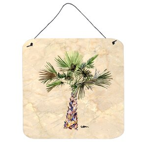 Palm Tree By Sylvia Corban Wall Art Plaque Part 82