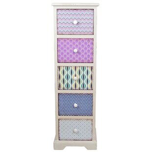Ailani 5 Drawer Chest By World Menagerie