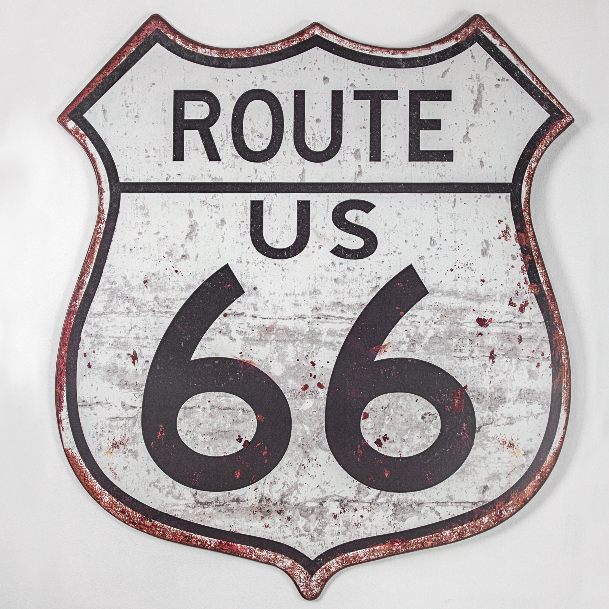Winston Porter Route 66 Metal Sign Wall