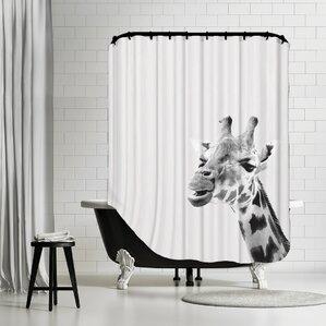Water Giraffe Shower Curtain