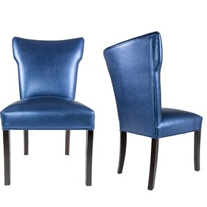 Cresson Vinyl Upholstered Contemporary Parsons Chair (Set of 2) by Everly Quinn