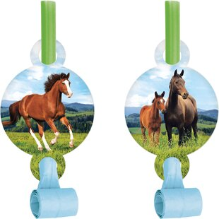 Horse Plastic/Paper Disposable Party Favor Set