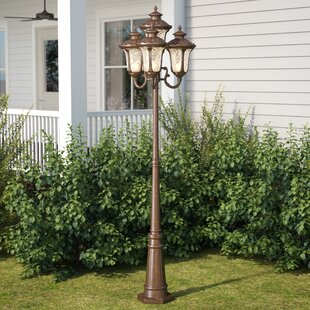 Online Reviews Gurnee Outdoor 4-Light 93 Metal Post Light By Three Posts