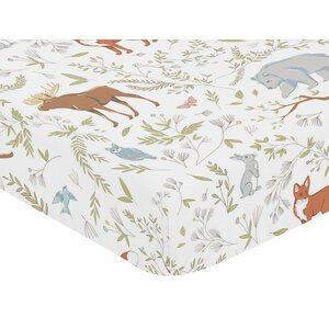 Woodland Toile Fitted Crib Sheet