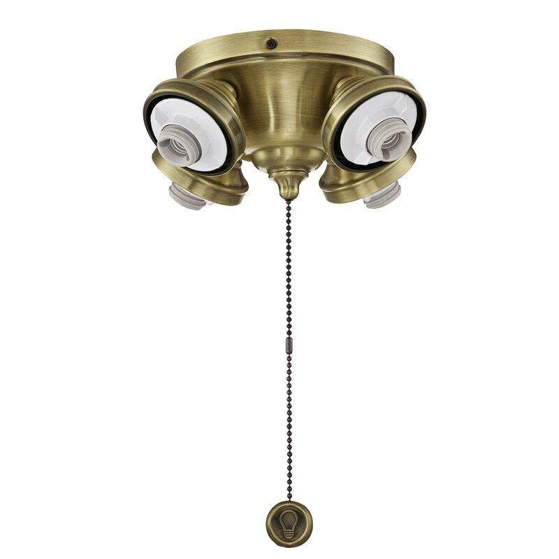Fanimation Operated 4 Light Led Ceiling Fan Light Fitter Wayfair